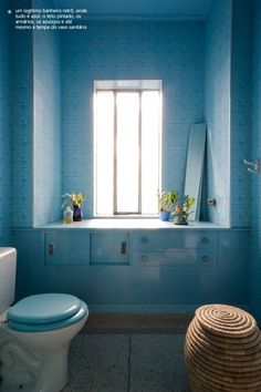 all blue bathroom #decor #colors #bathroom