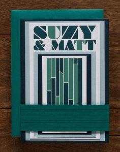 Bold, Typographic Letterpress Wedding Invitations (Foundry)   Tweedle Press