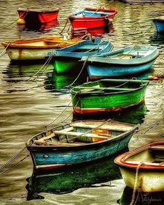 Colorful Rowboats