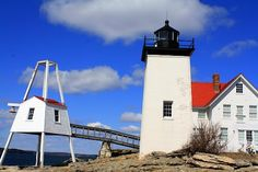 Hendricks Head Light. Southport, Maine.