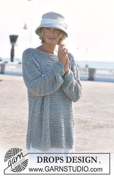 DROPS 69-21 - DROPS Pullover in Ribbon. Crocheted hat in Muskat. - Free pattern by DROPS Design