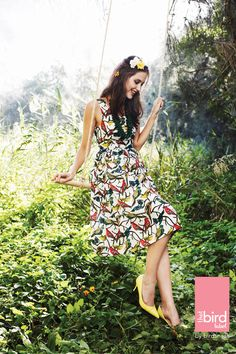 Just ordered this gorgeous dress! Knee Length Dresses, Fit Flare Dress, I Dress, Style Guides, Dresses Online, Personal Style, Bird, My Style, Fitness