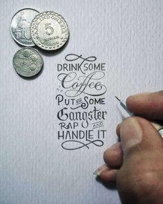 Une sélection des superbes créations miniatures de Dexa Muamar, un graphic designer indonésien qui mélange typographie, calligraphie et hand lettering da