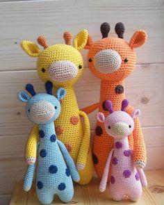 Made by sweetusja - giraffe pattern: www.littlebearcrochets.com