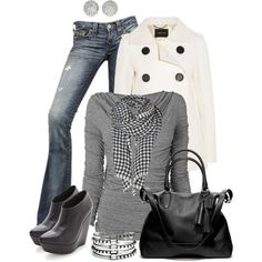 A fashion look from February 2013 featuring Phase Eight tops, Derek Lam coats and True Religion jeans. Browse and shop related looks.