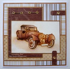 Handmade Card With A Classic Car Great For The Male Lover Masculine Birthday
