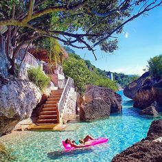 Cebu, Philippines. Piscina naturale spettacolare.