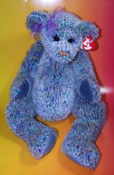 TY Classic Razzmatazz Bear Blue Retired 2000  8.00 Beanie Bears 02766fd00fcd