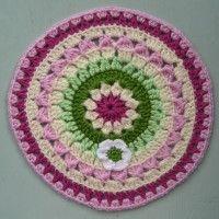 Crochet Mandala Wheel made by Jane, Kent, UK for yarndale.co.uk