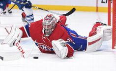 MONTREAL, QC - OCTOBER 24: Carey Price #31 of the Montreal Canadiens stops a shot by the Toronto Maple Leafs in the NHL game at the Bell Centre on October 24, 2015 in Montreal, Quebec, Canada. (Photo by Francois Lacasse/NHLI via Getty Images)