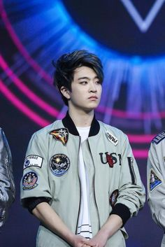 Youngjae looks like he's judging someone so hard