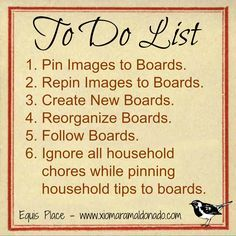 Pinterest to do list...