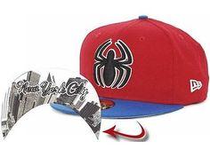 a8f00a8d804 Marvel Spiderman Comic Undertone 59FIFTY Cap Fitted Hat DC Comics Super  Hero NWT