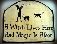 A witch lives here and magic is afoot