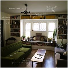 Keep Smiling: Before & After: Living Room Shelves
