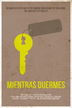 Mientras duermes (2011) ~ Minimal Movie Poster by Belle Lurette