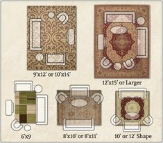 Choosing the right size area rug for your Living Room