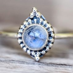 N E W || Moonstone Point Ring || Available in our 'NEW' and 'Luna' Collections || www.indieandharper.com