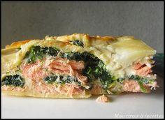 Mon tiroir à recettes - Blog de cuisine: Lasagnes saumon épinards