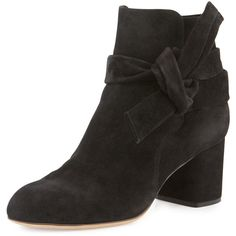 Rag & Bone Dalia Suede Ankle-Tie Bootie ($287) ❤ liked on Polyvore featuring shoes, boots, ankle booties, camel suede, shoes booties, suede ankle bootie, camel boots, block heel boots, block heel ankle boots and camel ankle boots