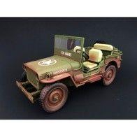 Triple 9 1/18 Willys Jeep US Army 1944 muddy version T9-1800141B