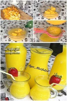See related links to what you are looking for. Album Design, Homemade Lemonade Recipes, Turkish Kitchen, Liqueur, Fresh Fruits And Vegetables, Iftar, Recipe Images, Holiday Desserts, Smoothies