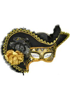 Lady Pirate Mask (Black) for Halloween - Pure Costumes