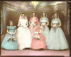 .pastel wedding~1950s?