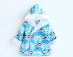 ON Sale HEARTS HOODIE Children Baby Girl Boy Jacket pattern Pdf sewing, Reversible Hooded Coat, Toddler  newborn up to 10 years
