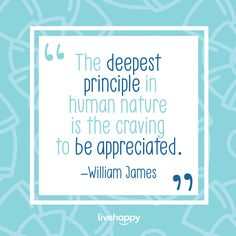 We all have people in our lives that we love and appreciate, but have you ever thought about how good it is for you to show appreciation for others? A recent study shows that learning how to show appreciation for others can help you feel less stressed and can even reduce symptoms of depression. 👍👍👍 #livehappy #happyacts Happiness Quotes, Happy Quotes, Show Appreciation, Williams James, Depression Symptoms, Live Happy, Human Nature, Have You Ever, Our Life