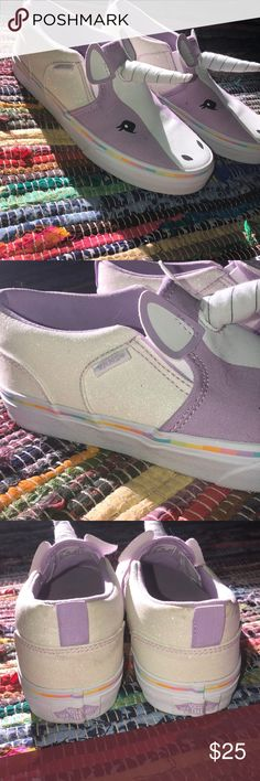 UNICORN VANS Only worn once!!! Vans Shoes Sneakers