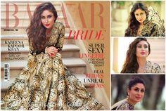 Kareena Kapoor looks dashing in Sandeep Khosla and Abu Jani anarkali. She is the cover girl of Harper's Bazaar Bride November 2014 edition.