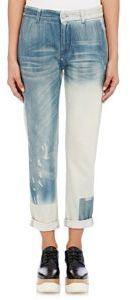 Stella McCartney Boyfriend Distressed Jeans-Colorless
