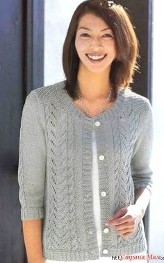 Elegant jacket spokes. - Knitted fashion + NEMODELNYH FOR LADIES - Country Mom