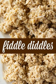 Diddles Fiddle Diddles - A no-bake cookie that is always a hit! Easy to make and deliciously sweet to eat.Fiddle Diddles - A no-bake cookie that is always a hit! Easy to make and deliciously sweet to eat. Easy No Bake Desserts, Easy Cookie Recipes, Köstliche Desserts, No Bake Treats, Candy Recipes, Baking Recipes, Sweet Recipes, Delicious Desserts, Snack Recipes