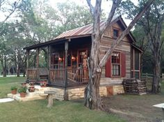 Tiny house cabin, cabins and cottages, tiny cabins, tiny house living, rust Tyni House, Tiny House Cabin, Log Cabin Homes, Small Log Cabin, Tiny Cabins, Cabins And Cottages, Log Cabins, Rustic Cabins, Little Cabin