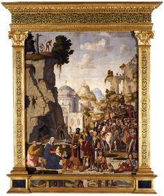 """Marcello Fogolino """"Adorazione dei Magi; nella predella: Annunciazione, Natività, Fuga in Egitto"""", tela (trasporto da tavola) / Images © Musei Civici Vicenza"""