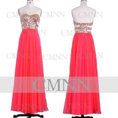 Coral Prom Dresses 2014 Prom Gown Strapless Sweetheart by CMNN, $159.00