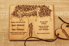 Hey, I found this really awesome Etsy listing at https://www.etsy.com/ca/listing/285620699/rustic-wedding-tree-invitation-20-pcs