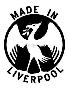 'Made in Liverpool Football Design' by Fan Art Liverpool Home, Bird Logos, Alliteration, Football Design, Logo Design, Fan Art, How To Make, Image, Birds