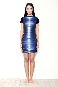 Another unusual dress from polish designer MODECODE.    $180    http://odprojektanta.pl/pr-210/MODECODE-Sukienka-na-impreze-ze-wspanialym-nadrukiem-swiatla.html    Contact: bok@odprojektanta.pl