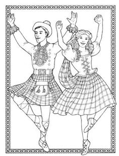 Costumes for coloring - Dancers