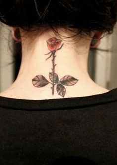 Small Rose Tattoo for Neck: Cute Tattoos