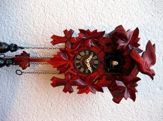 Reloj de Cuco Qdunkelrot