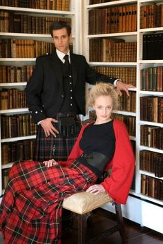Tartan in the library