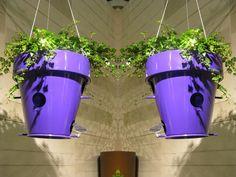 Nice Outdoor Flowerpot with Bird House – O-Nest_O by De Castelli | DigsDigs