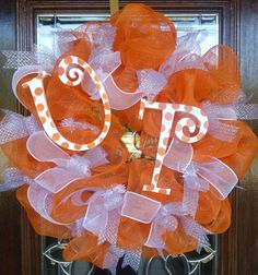 Something like this could potentially adorn our door around football season. This is a prime example of leave and cleave. Maybe only if they do better so we're not embarrassed, that is.