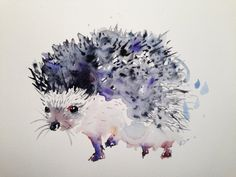 Hedgehog giclee print of original art illustration by Kribro on Etsy