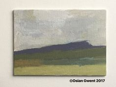 Hay Bluff in the Black Mountains 5x7 oil on canvas