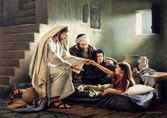 pictures of jesus healing raising dead